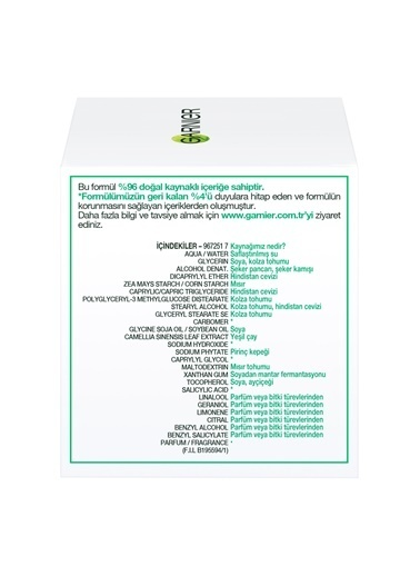 Garnier Botanik Matlastırıcı Antioksidan Nemlendirici Krem Renksiz